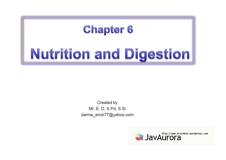 Materi power point bab 6 Makanan dan Sistem Pencernaan